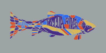 Private Label Mosaic Trout - art option