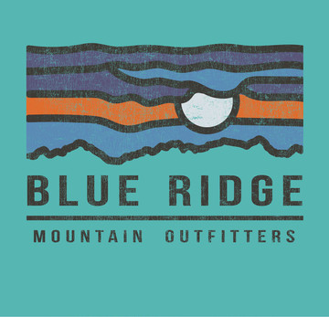 Private Label T-Shirt -Blue Ridge Moon - Short-Sleeved - Design Sample