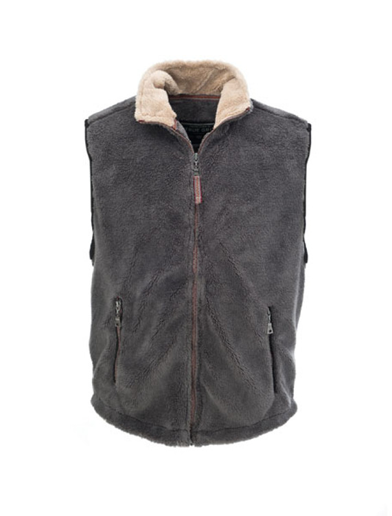 True Grit Pebble Pile Double Up Vest in Harley Black