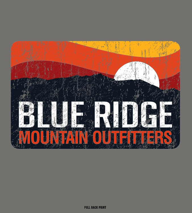 Private Label T-Shirt - Blue Ridge Sunset - Long Sleeve