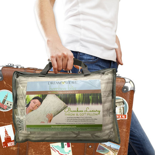 Bamboo Luxury Throw & Go Travel Pillow from Bamboo Bliss