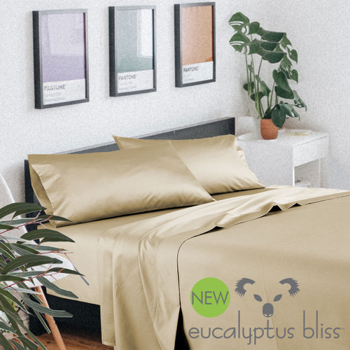 NEW! Eucalyptus Bliss - 600 Thread Count Eco-Luxury Sheet Sets - Wheat