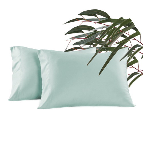 NEW! 600 Thread Count - Eucalyptus Bliss Pillowcase Set - Seaglass