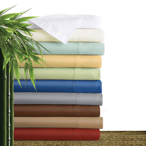Bliss Villa Luxury 100% bamboo sheet sets. One fitted sheet, one flat sheet and two pillow cases per set. Select sizes and colors now on clearance sale.