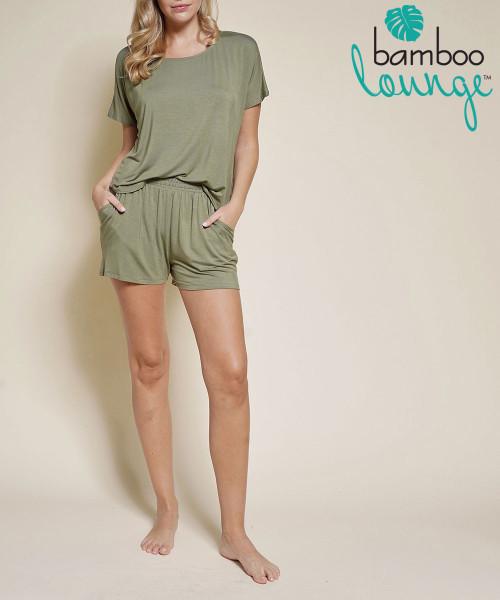 Bamboo Lounge Comfort Shorts Set - Olive You
