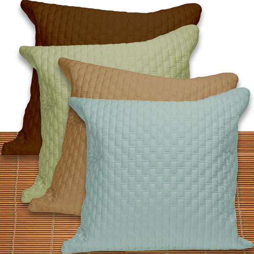 Bliss Villa Eco-Luxe Quilted Bamboo Euro Pillow Sham