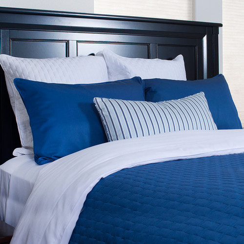 Bliss Villa Luxury Bamboo Coverlet Caribbean Blue