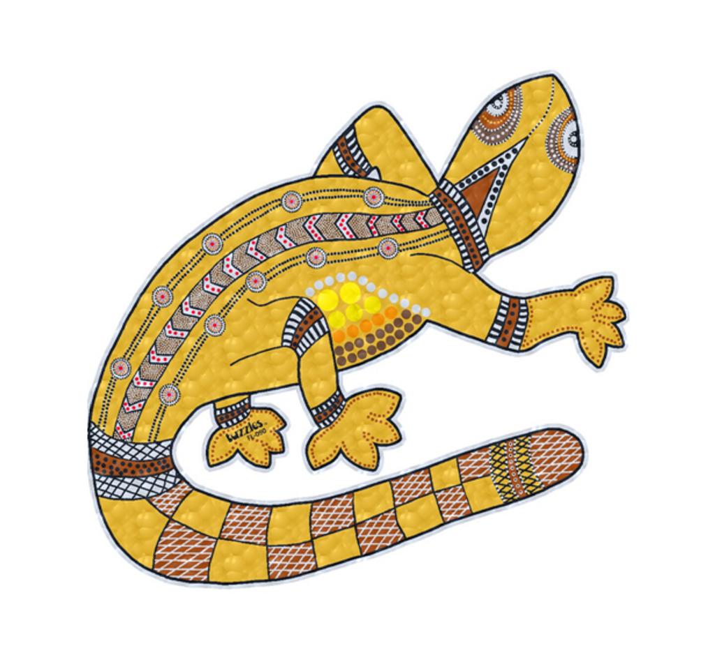 Aboriginal Art Goanna Floor Puzzle