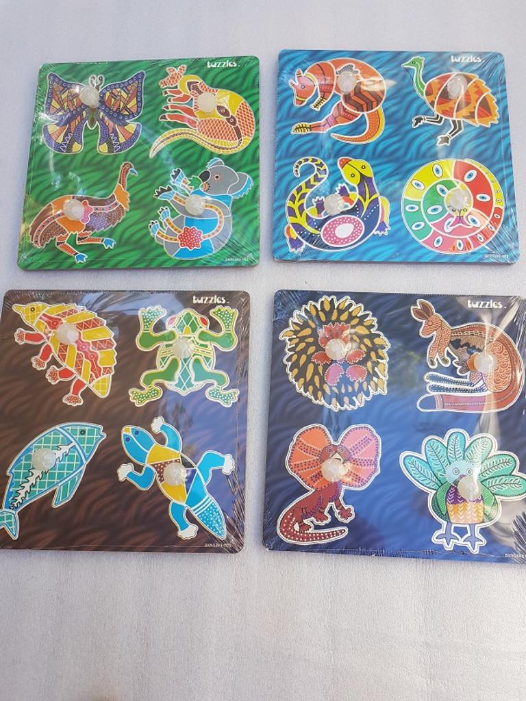Easy grip Aboriginal Art set 4 puzzles