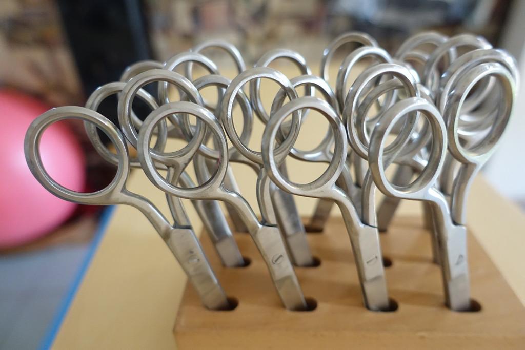 Scoissor Block with 12-9cm Scissors