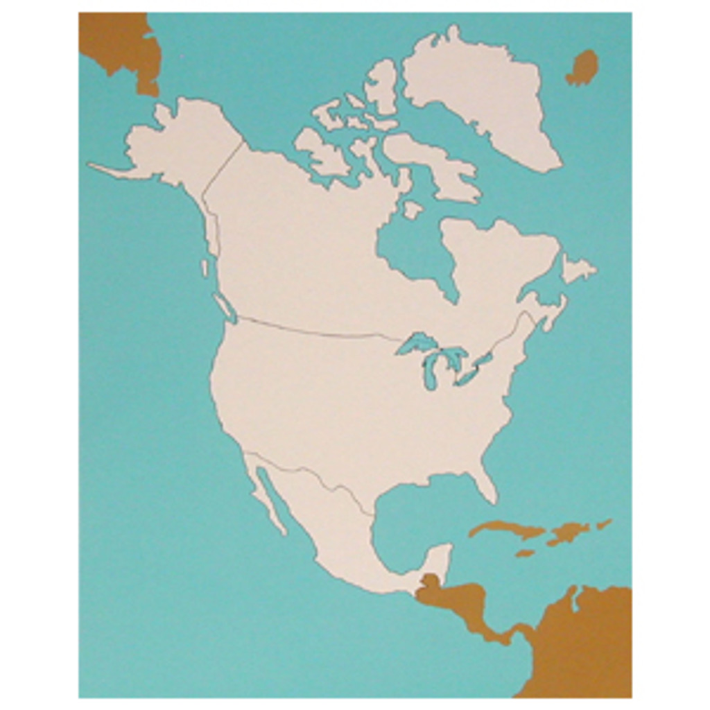 Control chart of North America , unlabeled