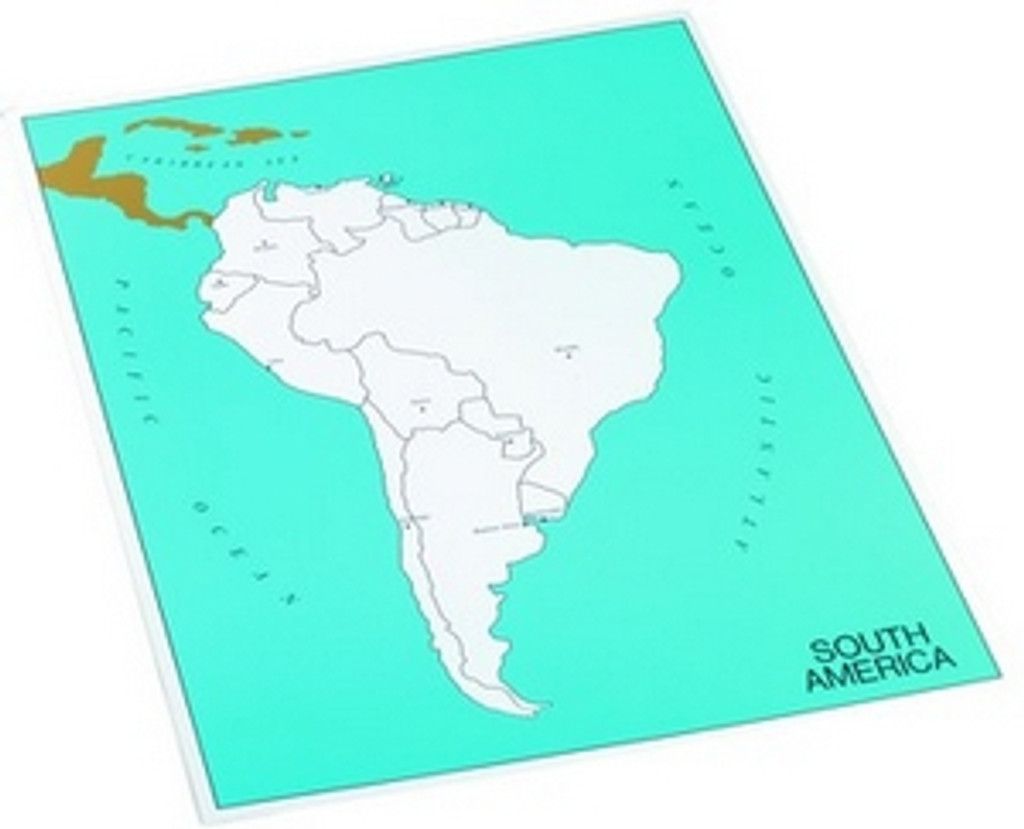 Control map of South America, capitals