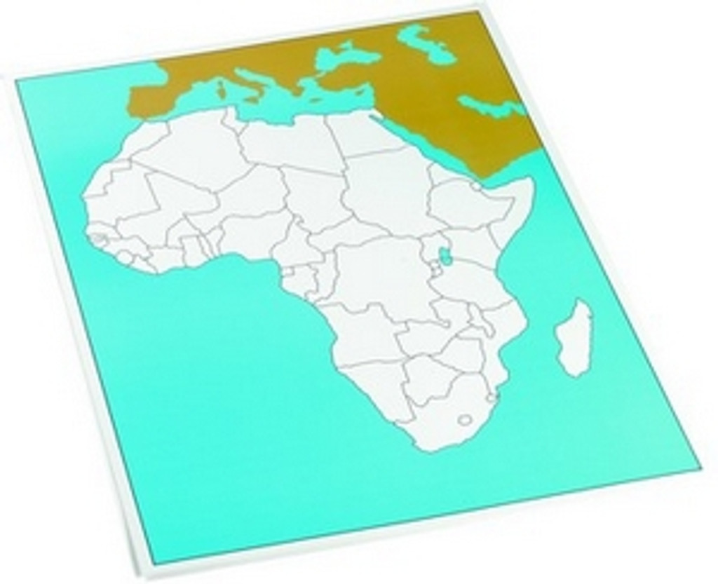 Control chart of Africa, unlabeled