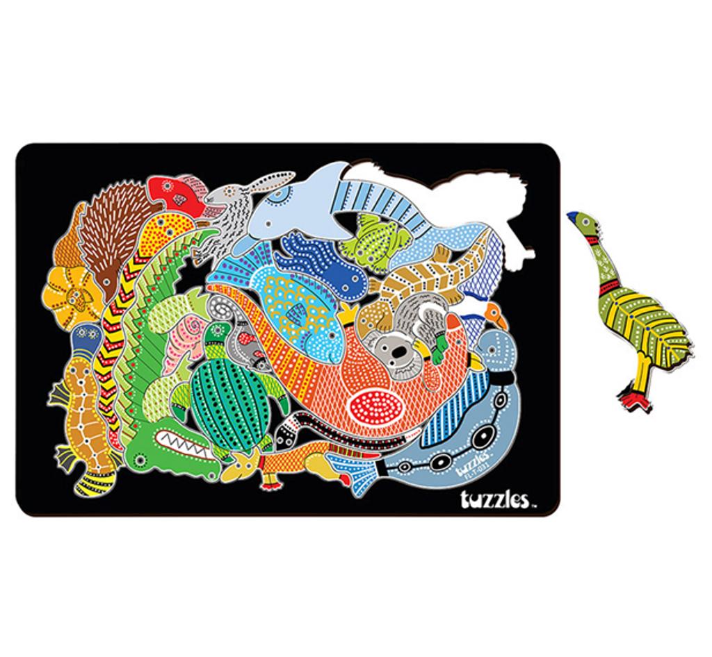 Aboriginal Art Mosaic Floor Puzzle-22 pieces