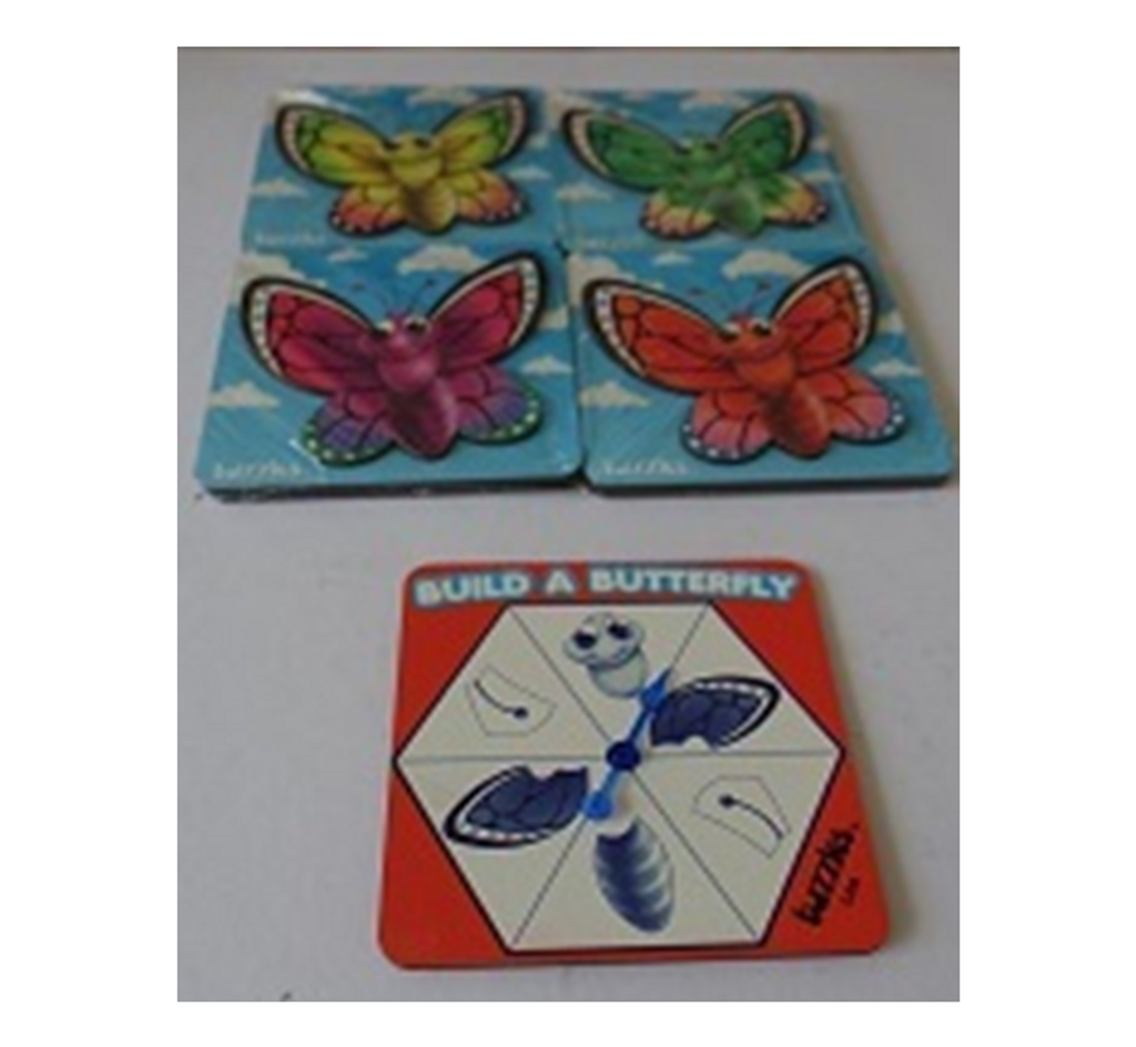Build a Butterfly Game with 4 Raised Puzzles