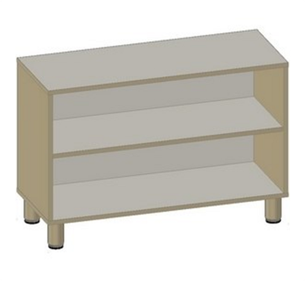 Cabinet with 3 Shelves - Width 105cm