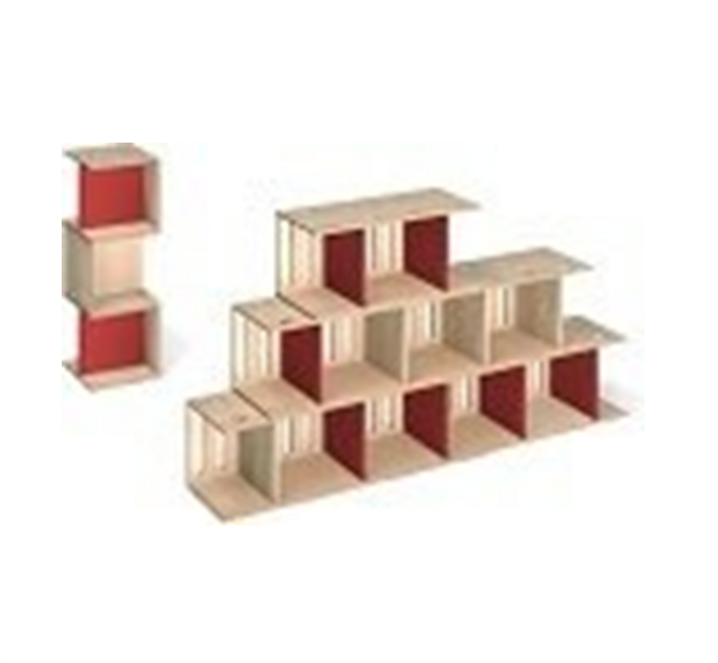 Chairs shown that it can be stacked for a bookshelf or cabinet