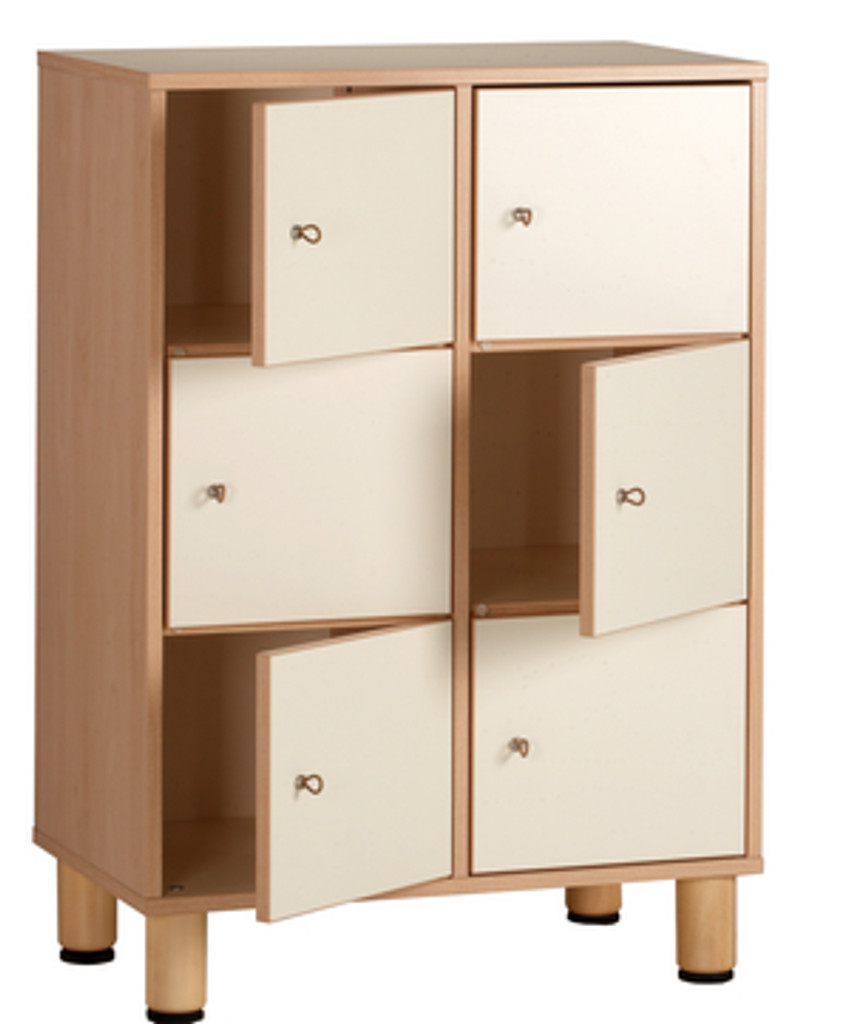 6 door dressing cabinet 70x41x100cmH
