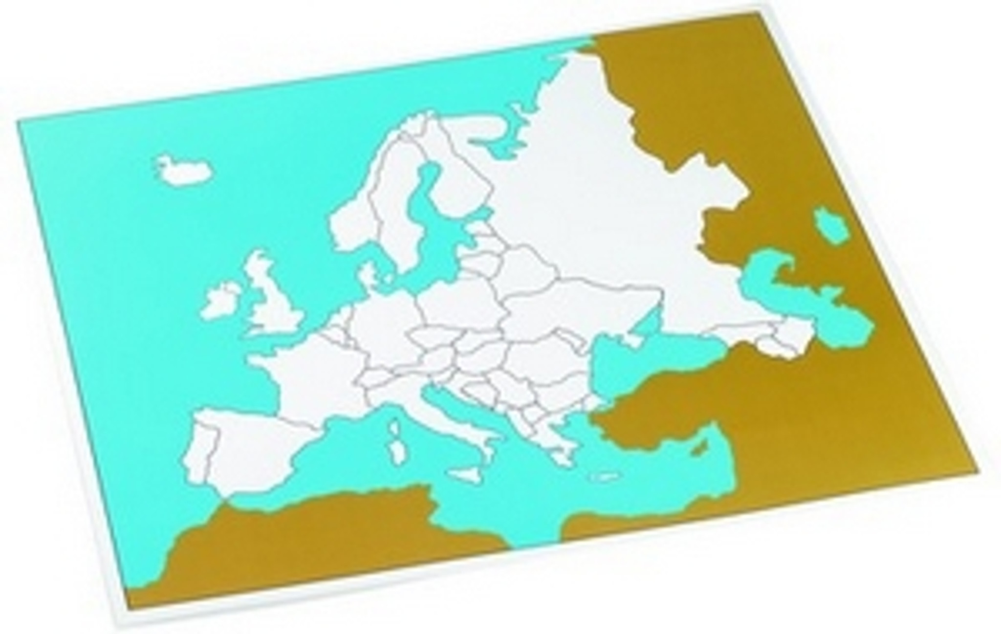 Control map of Europe unlabeled