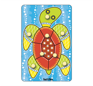 Aboriginal Art Turtle Knob Puzzle