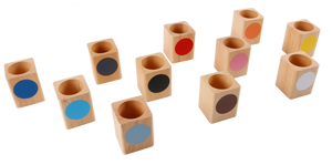 Coloured Inset Pencil Holders Set of 11 (GAM)