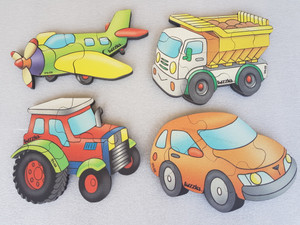 Set of 4 Transport Puzzles