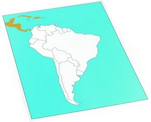 Control map of South America unlabeled