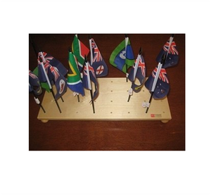 This shows the stands that now come with this set it holds 32 flags