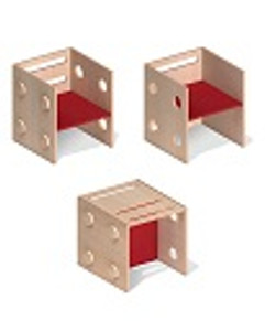 Chairs shown as the 3 ways it can be used