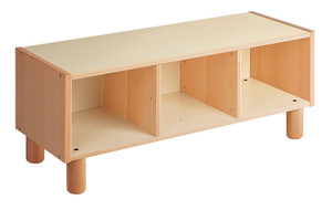 2 shelves cabinet with 3 compartments.