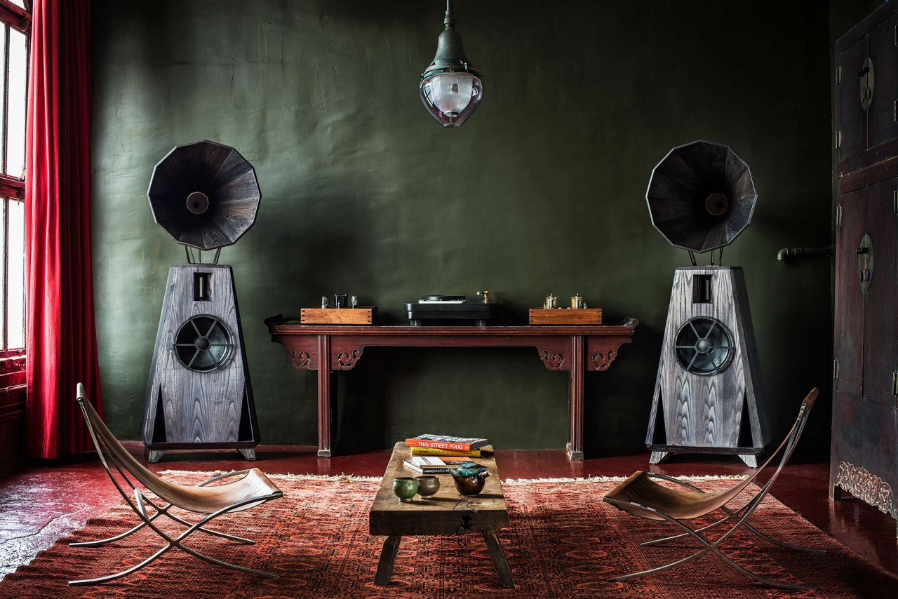 Oswalds Mill Audio AC-1 horn speakers