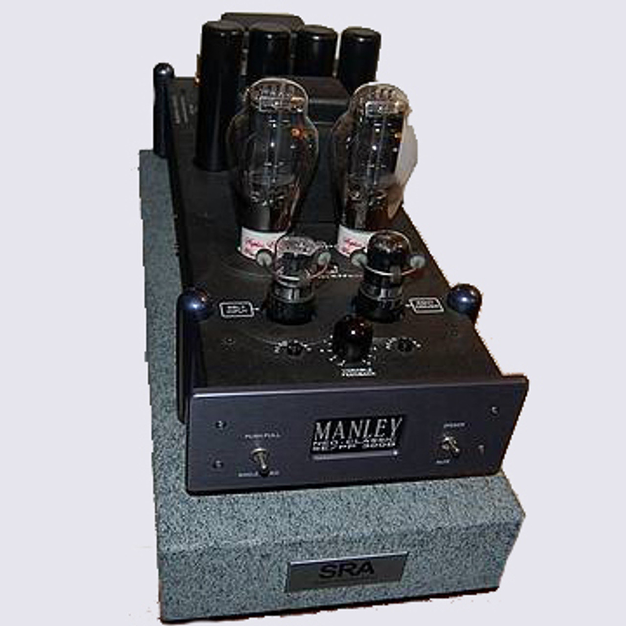 SRA VR series isoBASE platforms for Manley 300B amps