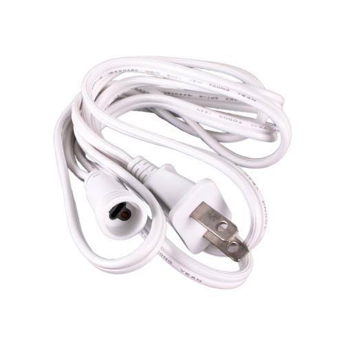Cascading LED Light Tube Power Cord - White
