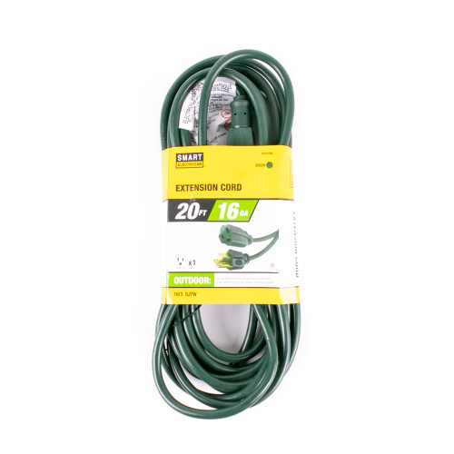 Green 20' Extension Cord