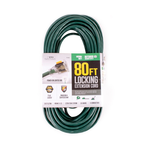 Green 80' Extension Cord