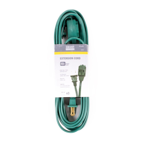 12' Extension Cord - Green