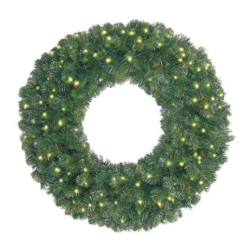 "72"" Prelit Oregon Fir LED Wreath"