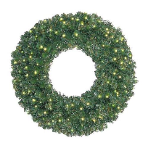 "24"" Prelit Oregon Fir LED Wreath"