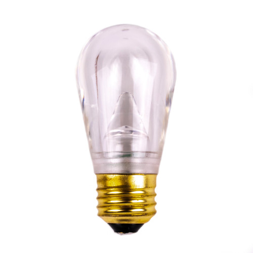 S14 Cool White Smooth Glass LED Bulb