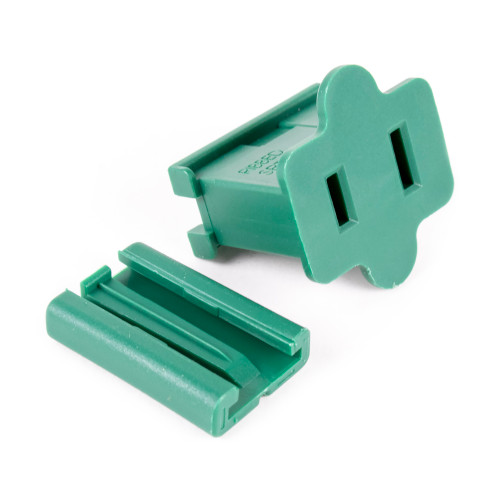 UL Slide-On Female Plug - Green - SPT2