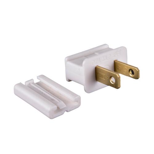 UL Slide-On Male Plug - White