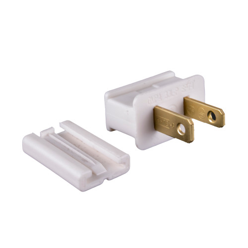 UL Slide-On Male Plug - White