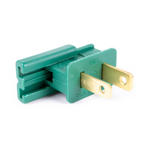 UL Slide-On Male Plug - Green