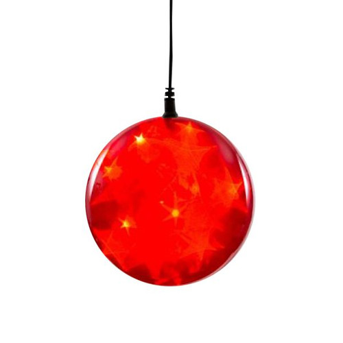 """6"""" Red Holographic Battery Operated LED Sphere Including 3-Function Controller"""
