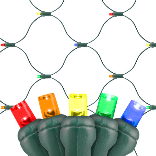 5-Multi Color Premium Grade 5MM Conical LED Net Lights