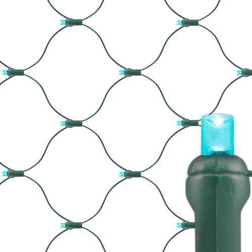 Teal Premium Grade 5MM Conical LED Net Lights