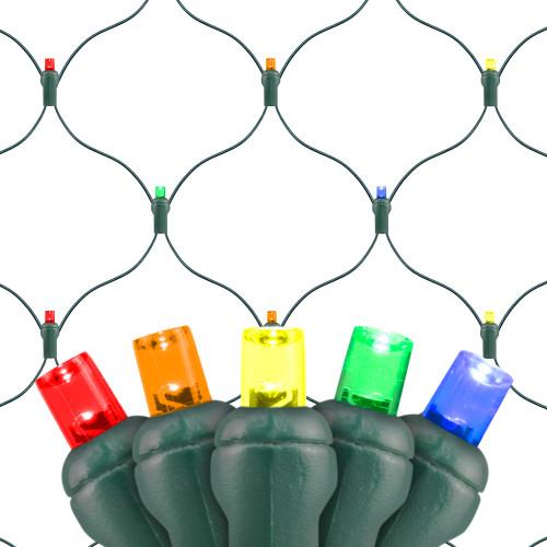 5-Multi Color Unlit Premium Grade 5MM Conical LED Tree Trunk Wrap