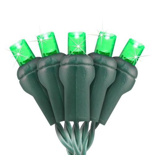 Green 5MM Conical LED Glisten Light String