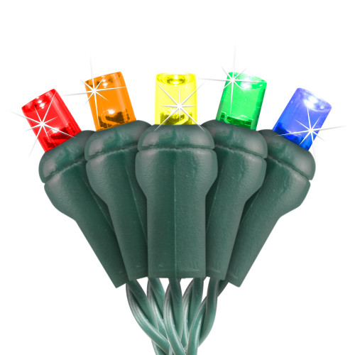 5-Multi Color 5MM Conical LED Twinkle Lights