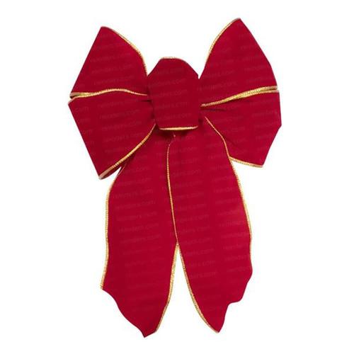 Small Deluxe Red Velvet Christmas Bow